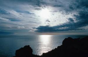 berg himmel hav