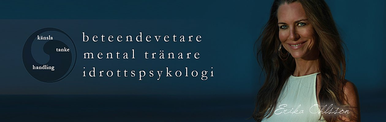 Mental tränare, beteendevetare, KBT, idrottspsykologi, Stockholm